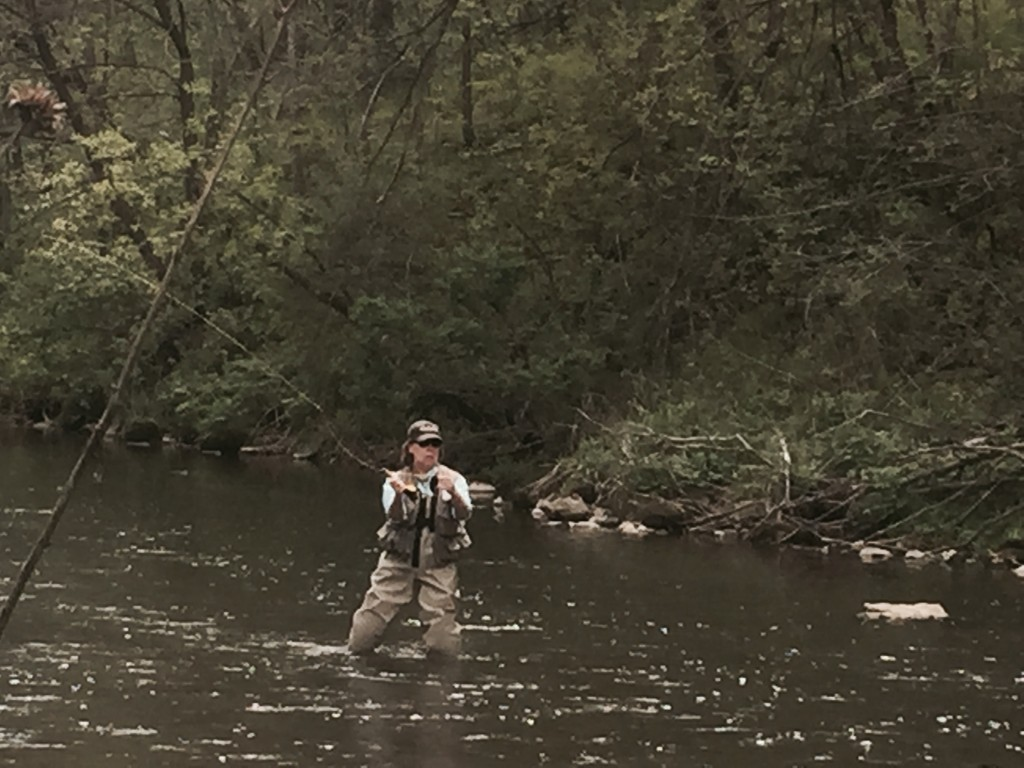 Casting in the river